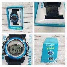 Sharp Kids Digital Light Up Sports Watch Black /Blue Alarm Chrono
