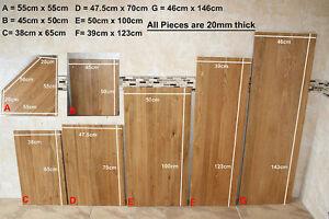 Oak Timber Offcuts Work Tops | Solid Oak Planks | Oak Boards for Shelving