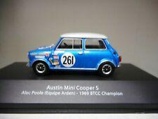 AUSTIN MINI COOPER ALEC POOLE 1969 BTCC CHAMPION BRITISH TOURING ATLAS n10 1:43