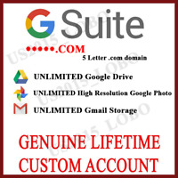 New Lifetime Unlimited Google Drive Storage | Custom google Account