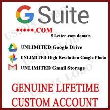 New Lifetime Unlimited Google Drive Storage | Custom google Account