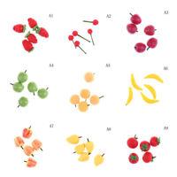 5PCS x  Fruit 1:12 Miniature Dollhouse Doll Handmade Food Supply FT
