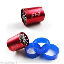Universal Fit Turbo Double Fan Air Intake Fuel Saver Fan Turbo Supercharger Red