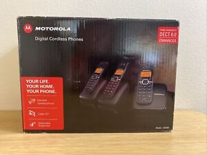 Motorola L603M 3 Digital Cordless Phones - Rechargeable Caller ID -BRAND NEW!