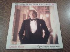 album 2 33 tours richard clayderman en concert coup de coeur + 17 partitions mus