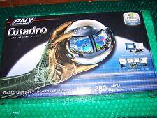 Nvidia Nvs 280 Dual Monitor AGP 8x Tarjeta Gráfica, Nuevo Y Sellado