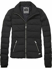 AW15/16 MAISON SCOTCH court ajustée olive gris noir down jacket sz 4 16 xl £ 215