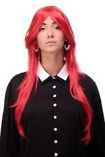 Perruque Très Grand Longue Rouge Vif Lisse Raie 75cm 3110-T1664