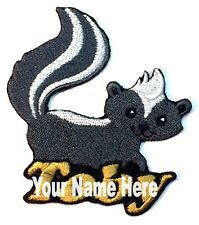 Skunk Custom Iron-on Patch With Name Personalized Free
