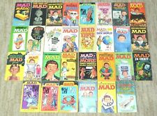MAD Magazine Paperback Pocket Book Lot of 30 Signet/Warner Vintage 60's-70's