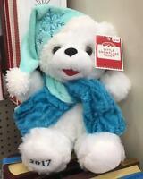 "2017 WalMART CHRISTMAS Snowflake TEDDY BEAR White Boy 13"" Blue outfit Brand New"