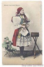 POSTCARD Czech Folk Costume Kyjov kroj Moravian ethnic dress antique photograph