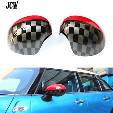 Pair Side Mirror Covers Caps Cover JCW Design For MINI Cooper 2014 F56 F57