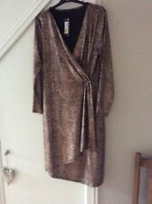 MARKS AND SPENCER BRONZE DRESS SIZE 16 REGULAR NEW/TAGS