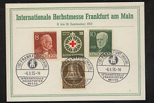 Germany,  4 Berlin stamps on card  1953          MS0826