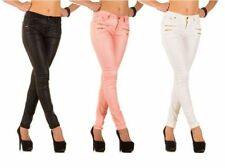 Faux Leather Mid Rise Slim, Skinny Jeans for Women