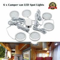 6x 12V Interior LED Spot Light For   T4 T5 Camper Van Caravan Motorhome lights