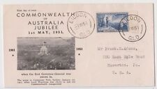 Stamp Australia 1951 Commonwealth Jubilee 5&1/2d blue Rouvre Cox cachet FDC