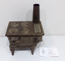 Antique 1900s PET Cast Iron Toy Stove Salesman Sample Range Oven ORIGINAL #2
