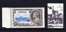 SWAZILAND 1935 1½d SILVER JUBILEE 'SHORT EXTRA FLAGSTAFF' VARIETY SG 22b MNH.