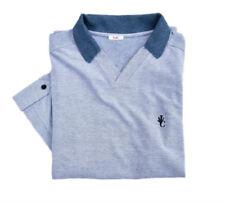 Schlanke-Größen Herren-Freizeithemden & -Shirts aus Baumwolle mit V-Ausschnitt