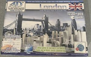 4D CITYSCAPE TIME JIGSAW PUZZLE LONDON 1230+ PIECES GLOW IN DARK 2010 Brand New