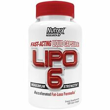 Nutrex LIPO 6 Fast-Acting Fat Burner Rapid Weight Loss - 120 Liqui-caps