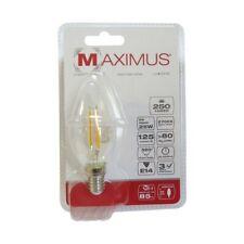 AMPOULE LED FILAMENT FLAMME E14 2W 250 LUMENS 2700K  BLANC CHAUD 25000 HEURES