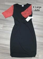 Black With Red Lace Sleeves Julia Lularoe