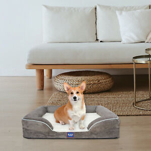 Orthopedic Memory Foam Dog Couch with Free Waterproof Liner and Removable Washab