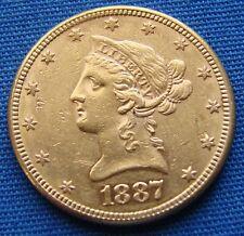 *SUPER LOOKING 1887 $10.00 GOLD EAGLE - ESTATE FRESH*
