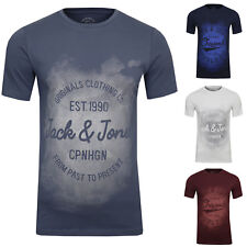 JACK & JONES Freizeit Sport Club T-Shirt Slim Fit Spray Aufdruck