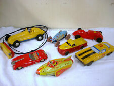 VINTAGE LOT OF 7  LARGE  TIN & PLASTIC TOYS - 1960's/70's