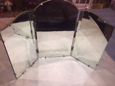 Very Rare & Beautiful Antique Vtg Tri Fold Mirror Old,3 Panel Dresser Top Vanity