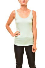 99402a0fdc46 J BRAND Womens Annelise JW22KN3474 Tank Relaxed Fit Sea Green Blue Size S
