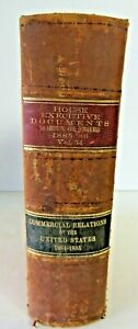 US House Executive Documents 1886 Commercial Relations of the US #2670