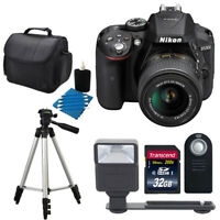 Nikon D5300 Digital SLR Camera with AF-P 18-55mm Lens Black Accessory Bundle