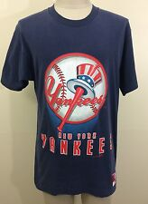 VTG 90s Nutmeg Mills New York Yankees Men's T Shirt L M MLB