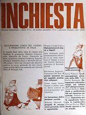 INCHIESTA  Anno VI  n.24  Ottobre Dicembre 1976  Edizioni Dedalo