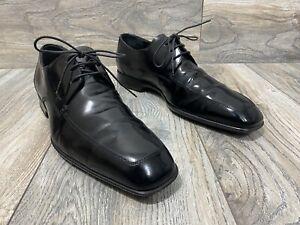 Salavatore Ferragamo Patent Leather Derby Lace-Up Shoes | Size 8.5