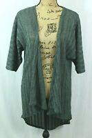 LuLaRoe Lindsay Kimono Sz S Sheer Knit Cardigan Moss Green Lightweight Sweater