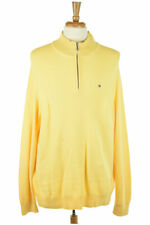 Tommy Hilfiger Men Sweaters Pullovers XL Yellow Cotton