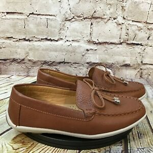 Driver Club USA Kids Brown Tassel Moc Toe Slip On Loafers Dress Shoes Size 1 Y