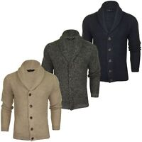 Tokyo Laundry Mens Shawl Neck Racked Stitch Cardigan 'Riley'