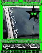 Lifted Trucks Matter VERTICAL Windshield Vinyl Decal Sticker Boost Turbo Diesel