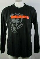 Chicago Bears NFL Mens Big & Tall Majestic Black Long Sleeve Reflective Tee