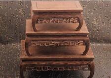 new bonsai pedestal China brown Ji-chi wood rosewood rectangle stand display #3