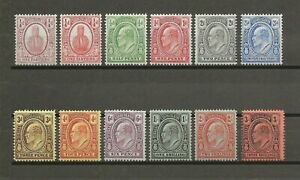 TURKS & CAICOS ISLANDS 1909 SG 115/26 MNH/MINT Cat £110