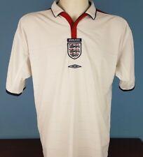 Authentic England 2003 - 2005 Home Shirt Size 2XL World Cup 2018 (069)