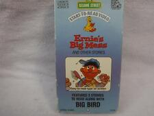 Vhs Rare Video Tape Sesame Street Start To Read Ernie's Big Mess & other lot C